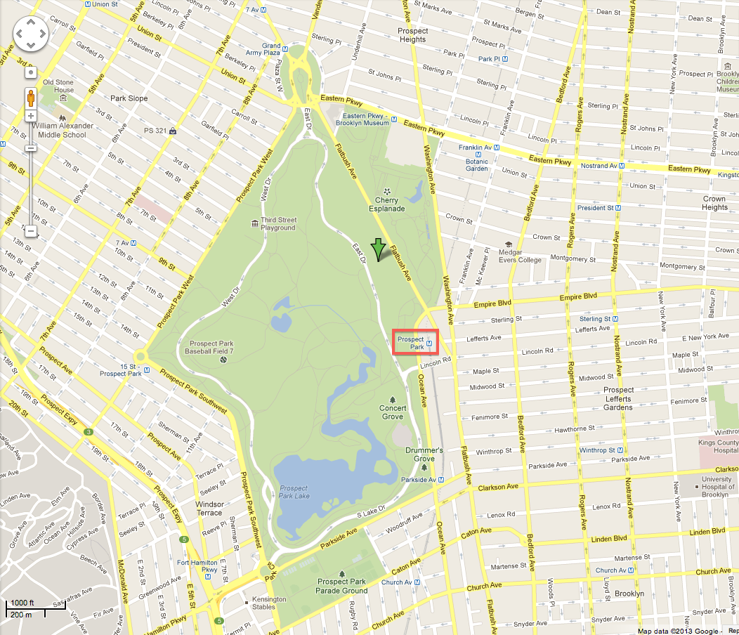 large map prospect park. the rehearsal dinner and wedding  lauren and shawn's wedding website